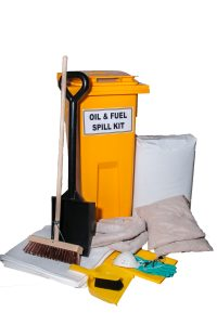 130L WHEELIE BIN SPILL KIT - OIL (UNBRANDED)