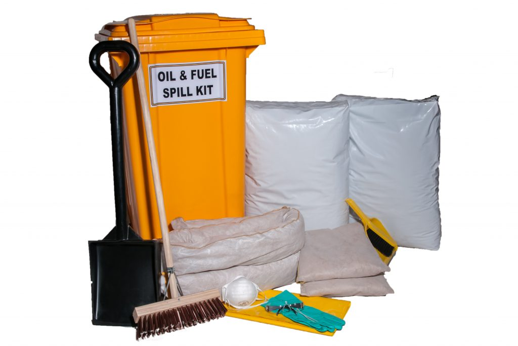 240L WHEELIE BIN SPILL KIT - OIL (UNBRANDED)